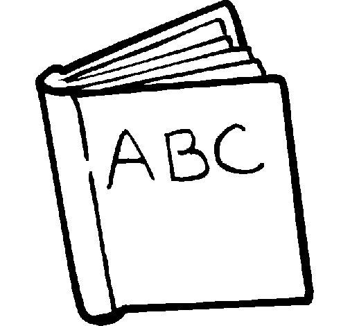 Desenho de Dicionário para Colorir