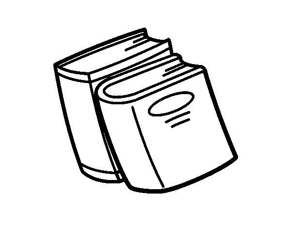 Desenho de Dicionários para Colorir