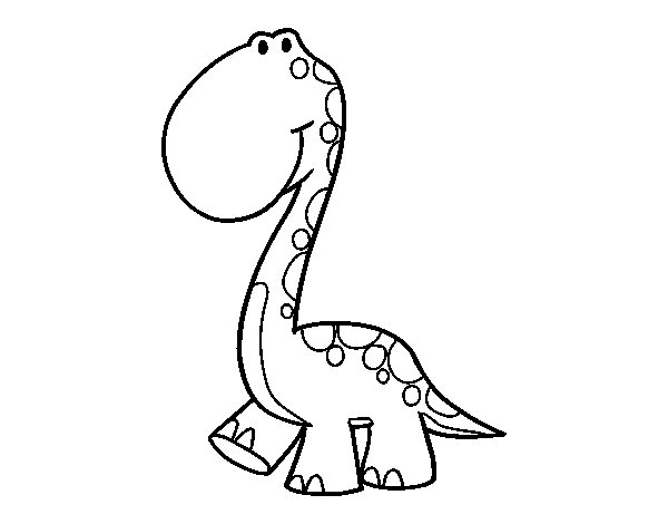 Desenho de Dino para Colorir