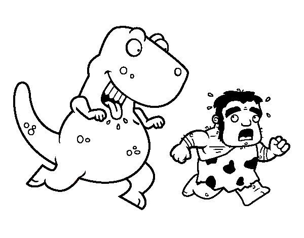 Desenho de Dinossauro caçador para Colorir