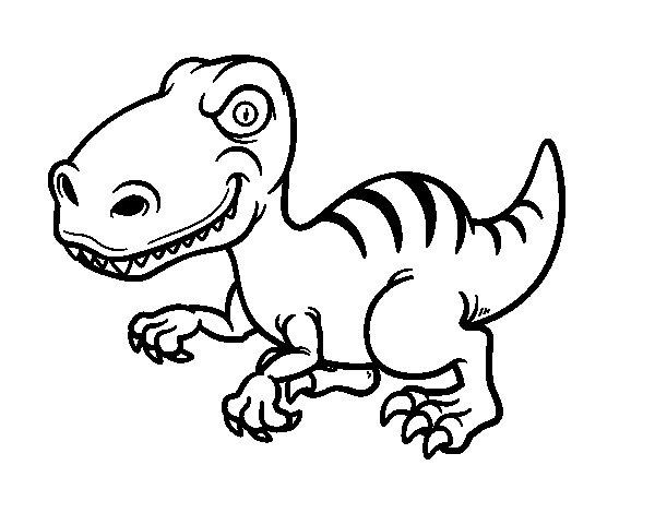 Desenho de Dinossauro velociraptor para Colorir