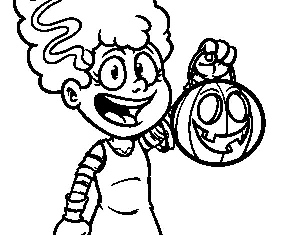 Desenho de Disfarce de Halloween para Colorir