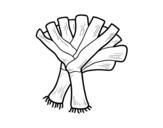 Desenho de Dois alho-poró para colorear