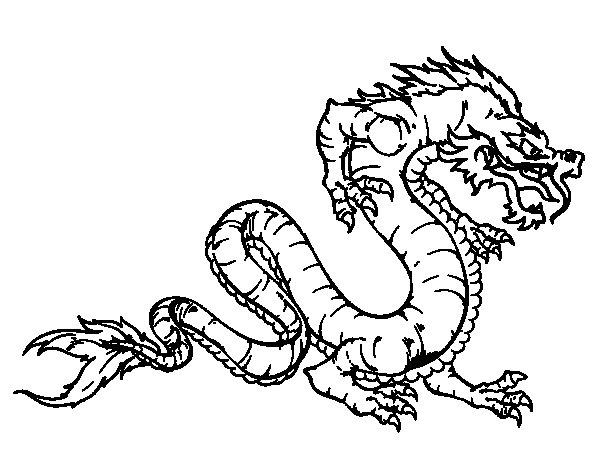 Desenho de Dragão caminhada para Colorir