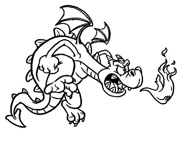 Desenho de Dragão do mal para Colorir