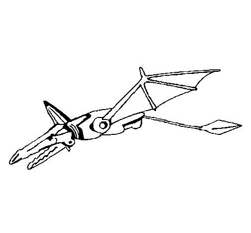 Desenho de Dragão robô para Colorir