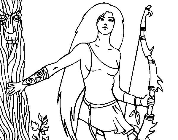 Desenho de Dríade para Colorir