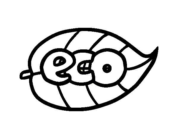 Desenho de ECO para Colorir