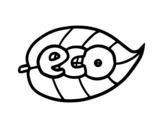 Desenho de ECO para colorear