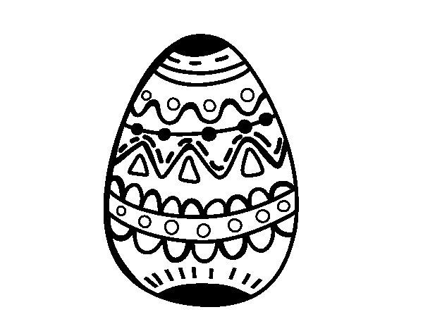 Desenho de El ovo da páscoa decorado para Colorir