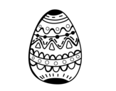 Desenho de El ovo da páscoa decorado para colorear