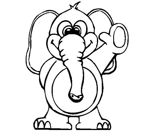 Desenho de Elefante 2 para Colorir