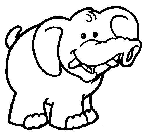 Desenho de Elefante 6 para Colorir