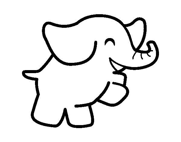 Desenho de Elefante bailarino para Colorir