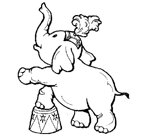 Desenho de Elefante para Colorir