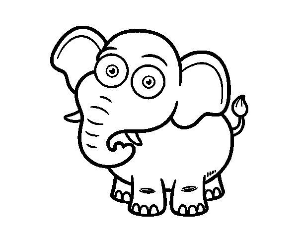 Desenho de Elefante-da-savana para Colorir