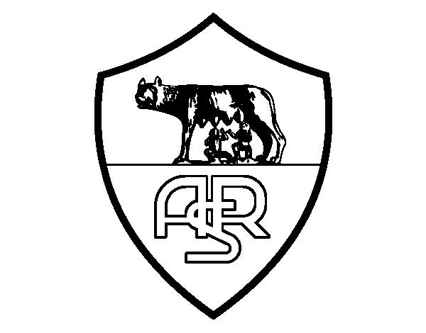 Desenho de emblema do as roma para colorir for Disegni della roma da colorare