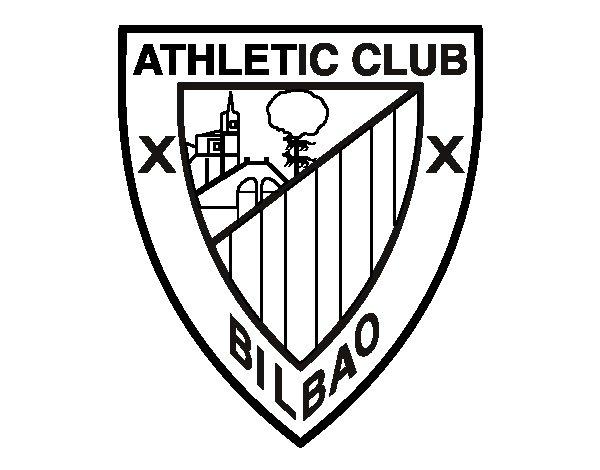 Desenho de Emblema do Athletic Club para Colorir