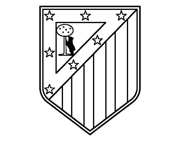 Desenho de Emblema do Club Atlético de Madrid para Colorir