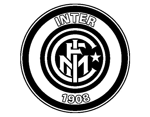 Desenho de Emblema do Inter de Milão para Colorir