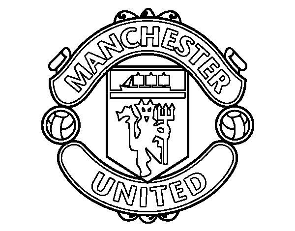 Desenho de Emblema do Manchester United para Colorir