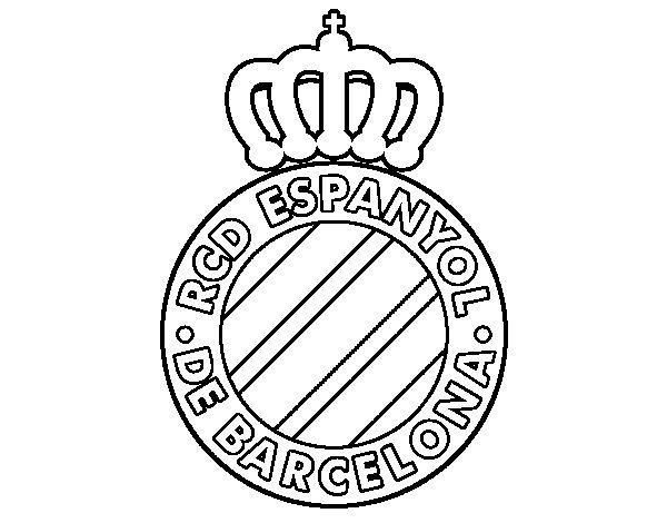 Desenho de Emblema do RCD Espanhol para Colorir