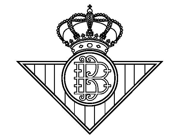 Desenho de Emblema do Real Betis Balompié para Colorir