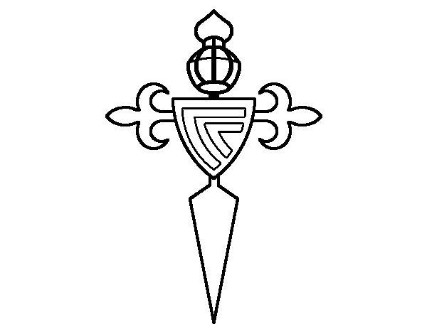 Desenho de Emblema do Real Club Celta de Vigo para Colorir