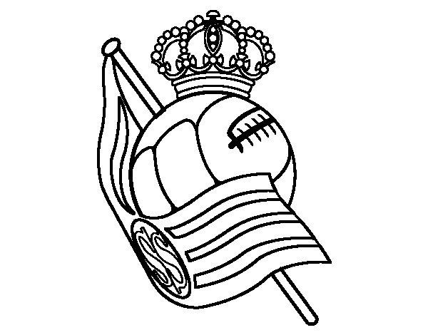 Desenho de Emblema do Real Sociedad de Fútbol para Colorir