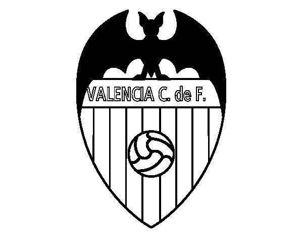 Desenho de Emblema do Valência F.C. para Colorir