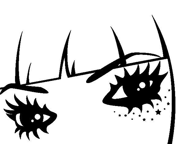 Desenho de Emo olhos para Colorir