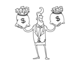 Dibujo de Empresário corrupto