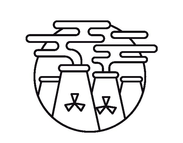 Desenho de Energia nuclear para Colorir