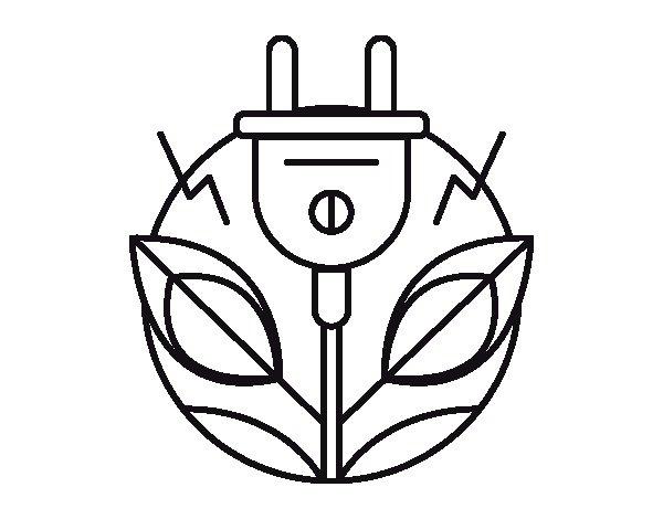Desenho de Energia renovável para Colorir