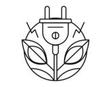 Desenho de Energia renovável para colorear