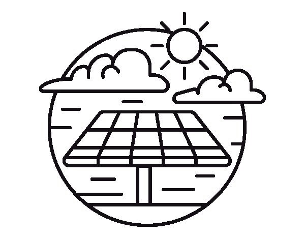 Desenho de Energia solar para Colorir