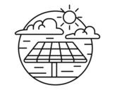 Desenho de Energia solar para colorear