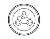 Desenho de Entrada proibida para motocicletas para colorear