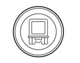 Desenho de Entrada proibida para os veículos que transportem mercadorias perigosas para colorear