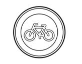 Desenho de Entrada proibido de ciclos para colorear