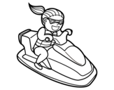 Desenho de Equipamento aquático pessoal para colorear