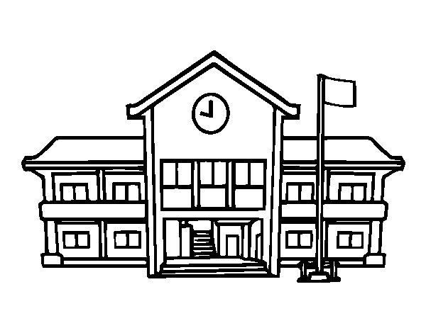 Desenho de Escola para Colorir