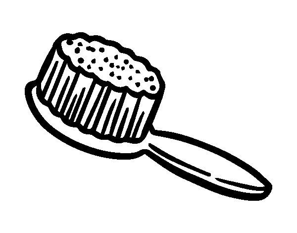 Desenho de Escova de cabelo para Colorir