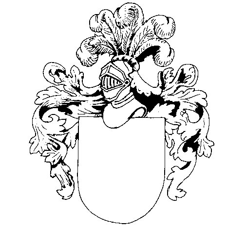 Desenho de Escudo de armas e capacete para Colorir