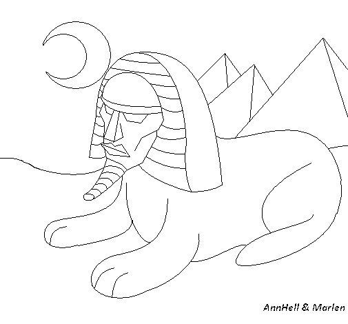 Desenho de Esfinge para Colorir