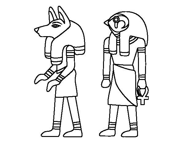 Desenho de Esfinges egipcias para Colorir