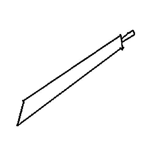 Desenho de Espada para Colorir