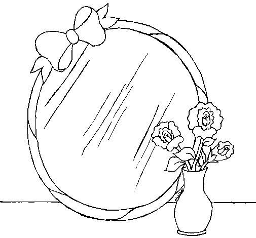 Desenho de Espelho para Colorir