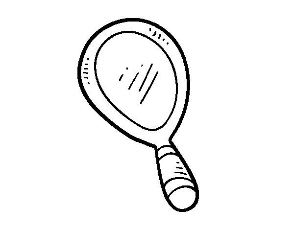 Desenho de Espelho de mão para Colorir