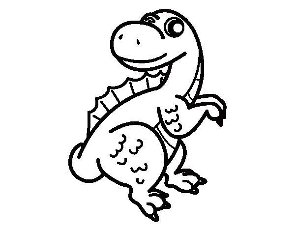 Desenho de Espinossauro bebé para Colorir